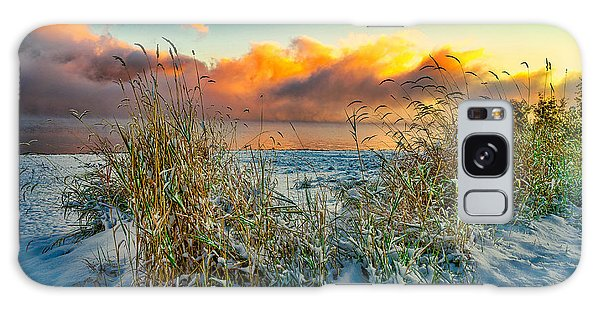 Grass And Snow Sunrise Galaxy Case