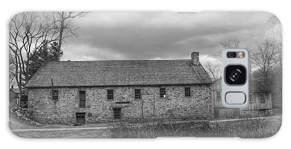 Grey Skies Over Fieldstone - Waterloo Village Galaxy Case