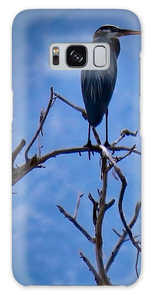 Great Blue Heron 3 Galaxy Case