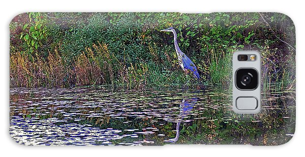 Great Blue Heron In Autumn Galaxy Case
