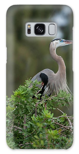 Galaxy Case featuring the photograph Great Blue Heron Portrait by Donald Brown