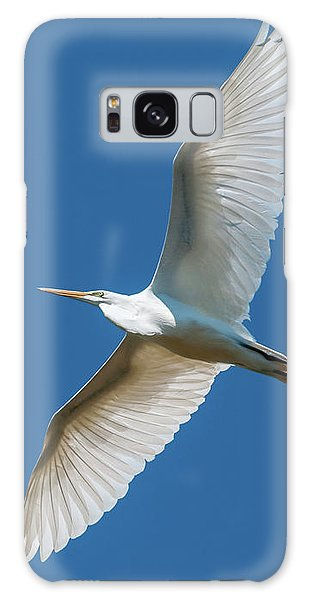 Great Egret Overhead Galaxy Case