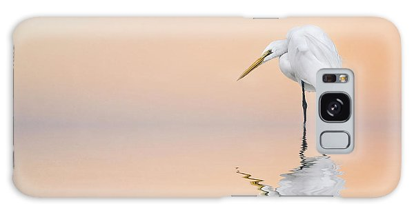 Great Egret Reflecting Galaxy Case