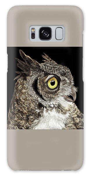 Great-horned Owl Galaxy Case