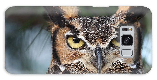 Great Horned Owl Eyes 51518 Galaxy Case