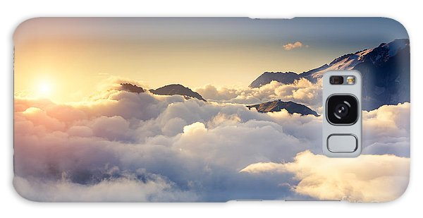 Scenery Galaxy Case - Great View Of The Foggy Val Di Fassa by Creative Travel Projects
