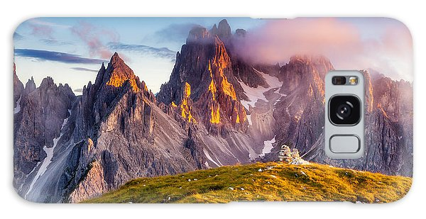 Dawn Galaxy Case - Great View Of The Top Cadini Di by Creative Travel Projects
