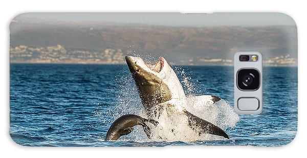 Jump Galaxy Case - Great White Shark  Carcharodon by Sergey Uryadnikov