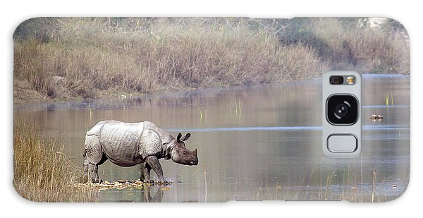 No People Galaxy Case - Greater One-horned Rhinoceros Specie by Paco Como