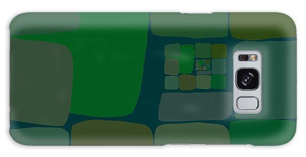 Galaxy Case featuring the digital art Green by Attila Meszlenyi