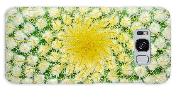 Desert Flora Galaxy Case - Green Cactus And Yellow Prickles by Ruslan Grechka