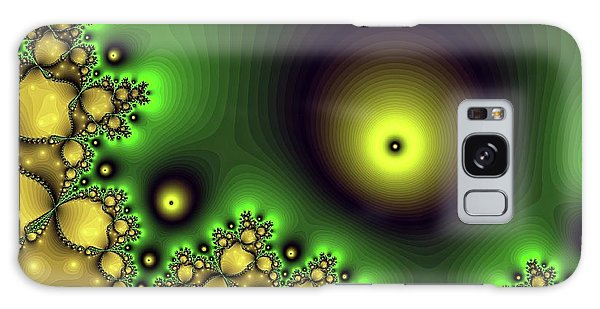 Green Glowing Bliss Abstract Galaxy Case