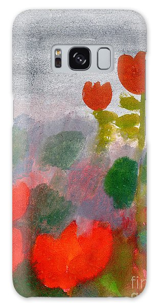 Nature Galaxy Case - Green Life. Nature. Flowers. Red by Diana Lapshina