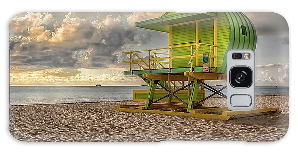 Green Lifeguard Stand Galaxy Case