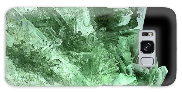 Green Quartz Crystals Galaxy Case
