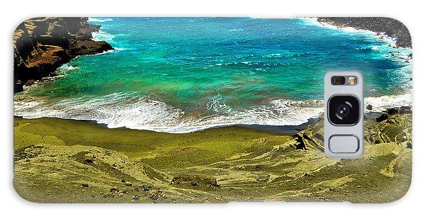 Green Sand Beach Galaxy Case