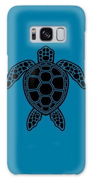 Turtle Galaxy Case - Green Sea Turtle Design - Black by John Schwegel