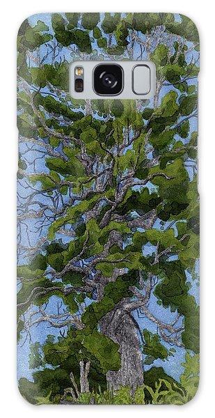 Galaxy Case - Green Tree, Hot Day by Alice Ann Barnes