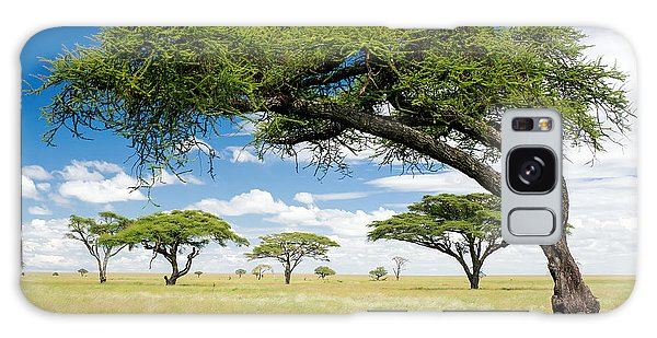 Scenery Galaxy Case - Green Trees In Africa, After The Rainy by Shuttjd