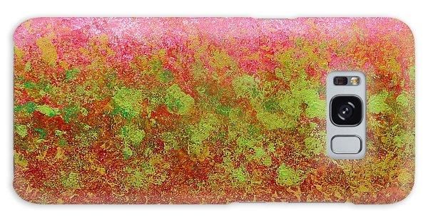 Greenery With Pink - Art By Cori Galaxy Case