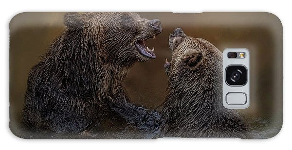 Grizzlies At Play Galaxy Case