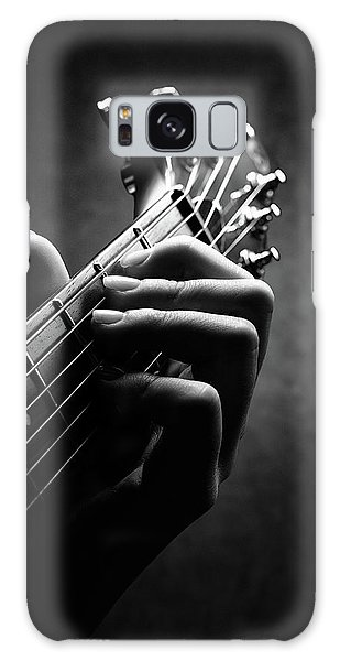 Body Parts Galaxy Case - Guitarist Hand Close-up by Johan Swanepoel