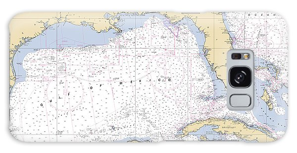 Gulf Of Mexico, Noaa Chart 411 Galaxy Case