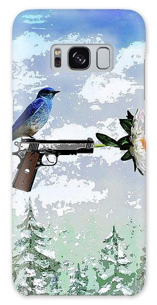 Bluebird Of Happiness- Flower In A Gun Galaxy Case