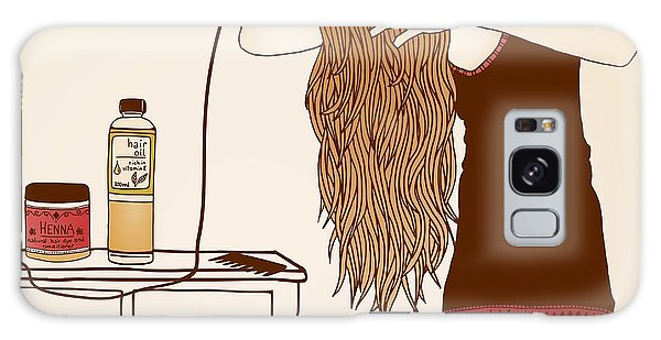 Bath Galaxy Case - Hair Care Illustration No. 23 Colored by Franzi
