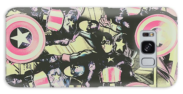 Fighter Galaxy Case - Halftone Superheroes by Jorgo Photography - Wall Art Gallery