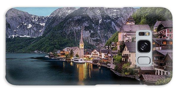 Hallstatt Village At Dusk, Austria Galaxy Case