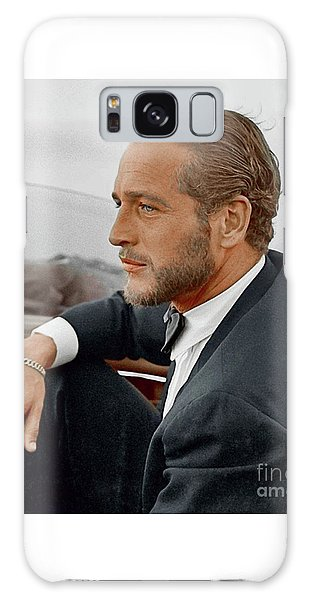 Hand Colored Picture Of Paul Newman Galaxy Case