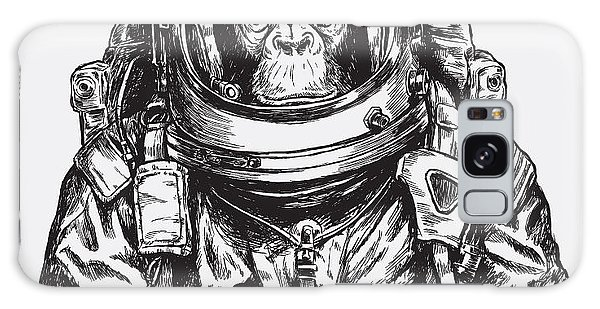 Outer Space Galaxy Case - Hand Drawn Monkey Astronaut Vector by Tairy Greene