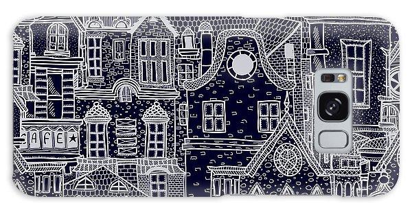 Bricks Galaxy Case - Hand-drawn Seamless Pattern With Old by Elena Eskevich