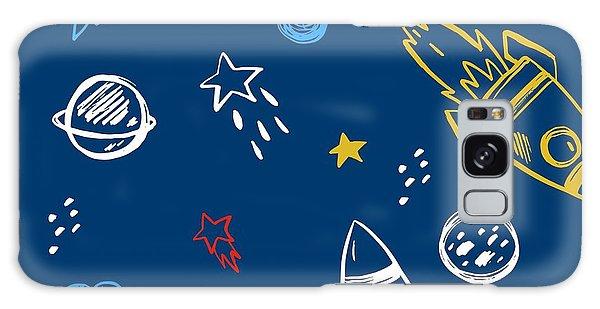 Spaceship Galaxy Case - Hand Drawn Space Background by Nadezda Barkova