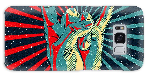 Metal Galaxy Case - Hand In Rock N Roll Sign, Vector by Premiumvector