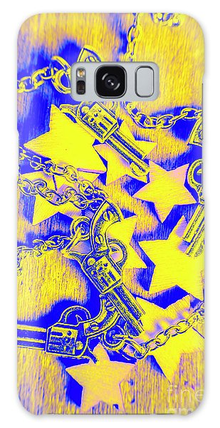 Fighter Galaxy Case - Handguns, Chains And Handcuffs by Jorgo Photography - Wall Art Gallery
