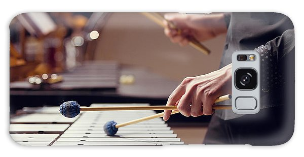 Horizontal Galaxy Case - Hands Of Musician Playing The Vibraphone by Furtseff