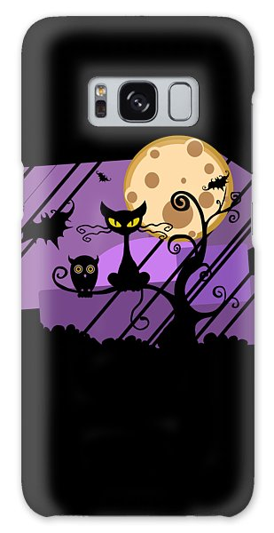 Happy Halloween Cat Galaxy Case