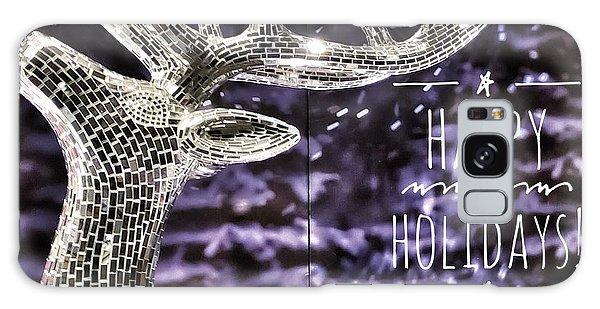 Happy Holiday Sparkle Galaxy Case