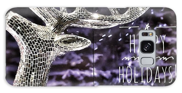 Happy Holiday Sparkle Galaxy Case