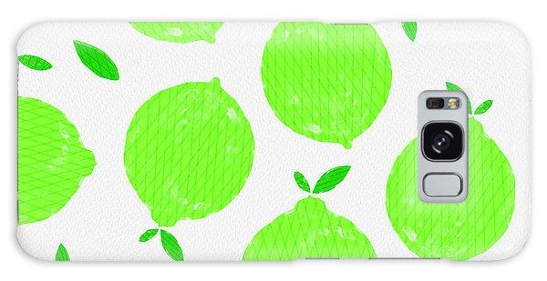 Happy Lime Print Galaxy Case
