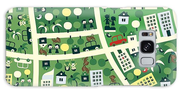 City Map Galaxy Case - Happy People In Jakarta by Anastasiia Kucherenko