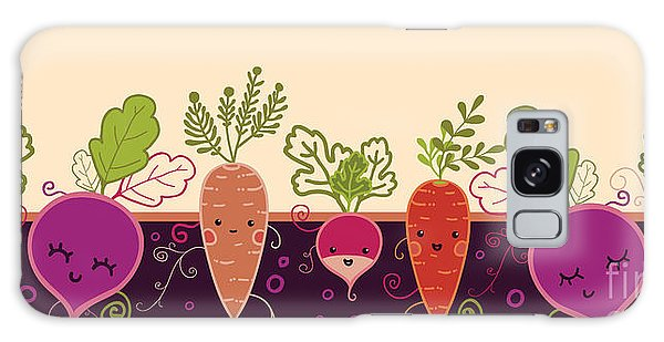 Horizontal Galaxy Case - Happy Root Vegetables Horizontal by Oksancia