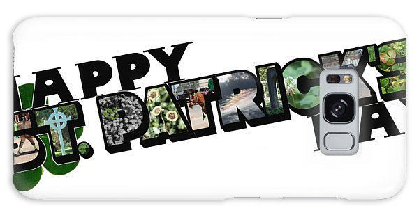 Happy St. Patrick's Day Big Letter Galaxy Case