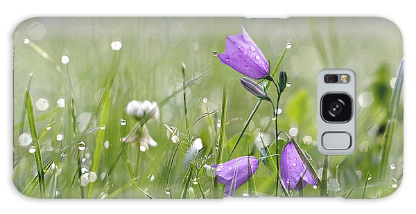 Harebells And Water Drops Galaxy Case