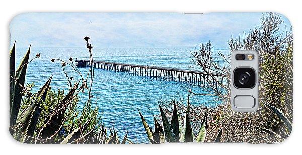 Haskell Beach Pier Galaxy Case