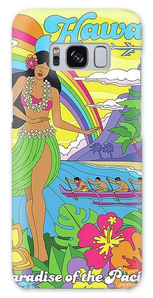 Hibiscus Galaxy Case - Hawaii Poster - Pop Art - Travel by Jim Zahniser