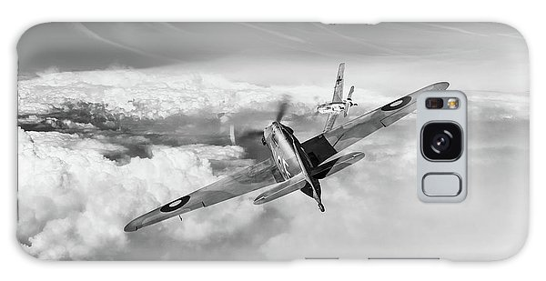 Galaxy Case featuring the photograph Hawker Hurricane Deflection Shot Bw Version by Gary Eason