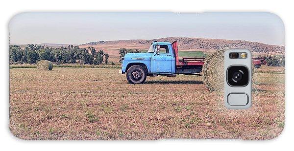 Haybale Galaxy Case - Hay Harvest Montana by Edward Fielding
